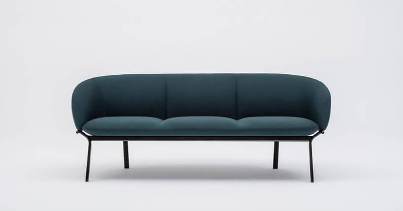 zielona sofa zserii Grace od MDD
