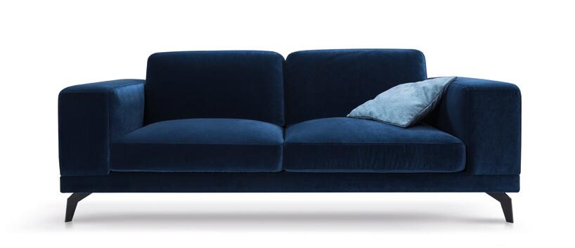 ciemno niebieska sofa
