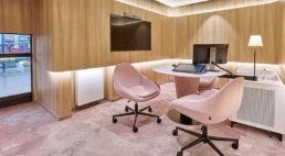 wnętrze nowego oddziału alior bank wekologicznym stylu