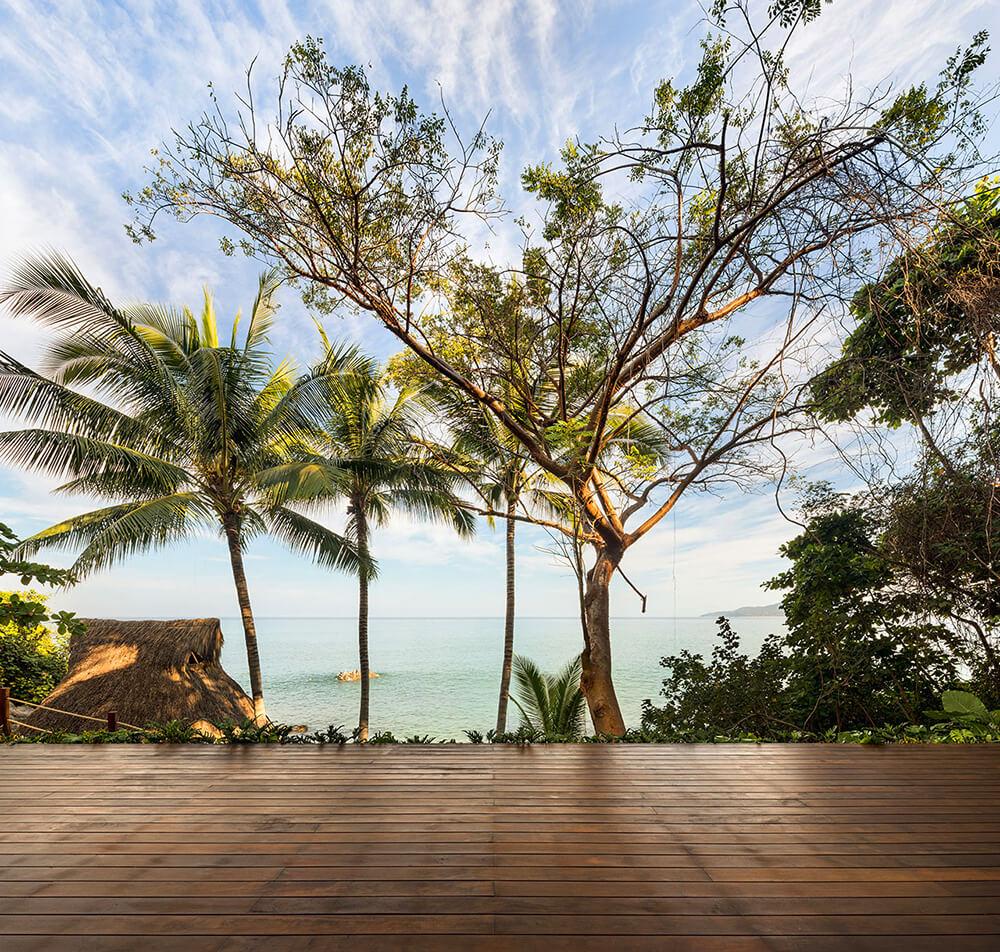 Oaza pod palmami ilatające pelikany: kompleks wypoczynkowy wMeksyku