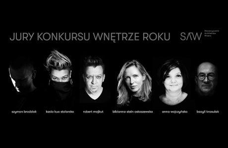 członkowie jury konkursu Wnętrze Roku SAW 2019