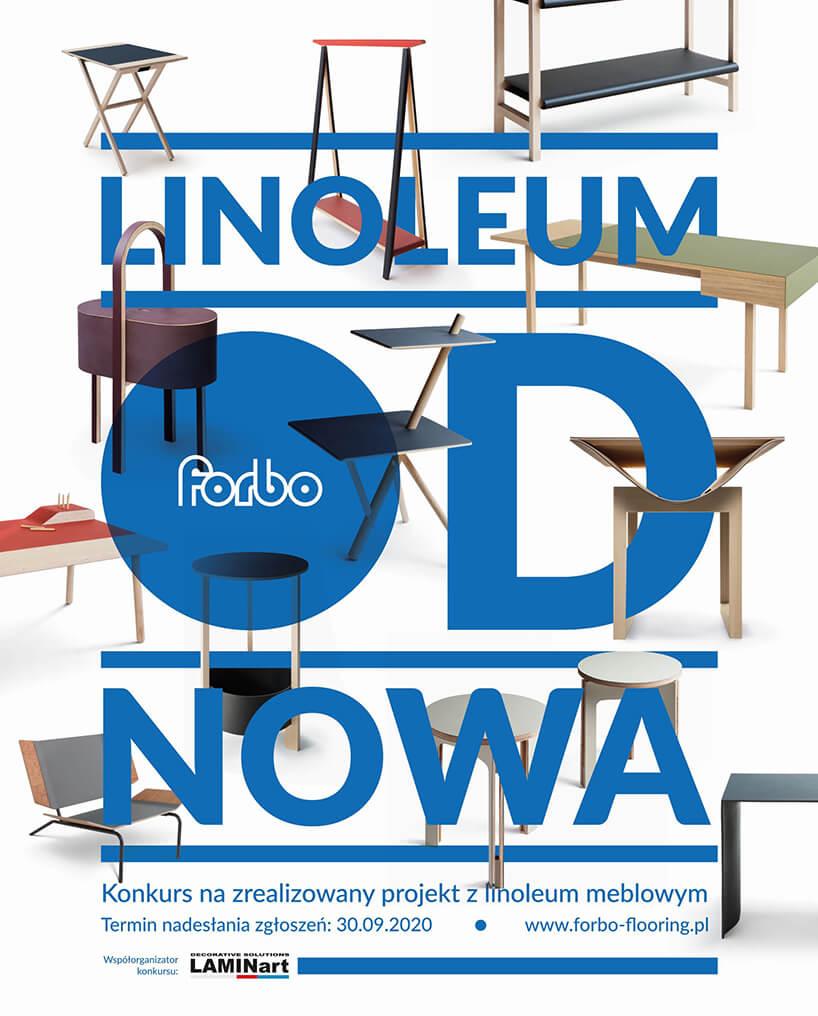 plakaty konkursu forbo flooring systems Linoleum od nowa