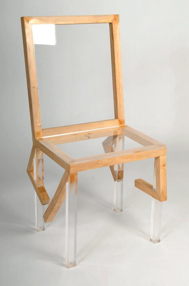 krzesło od góry