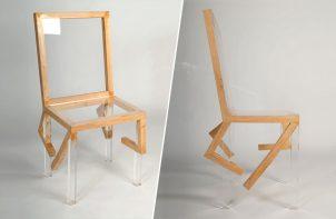 krzesło wyglądające jak w galopie
