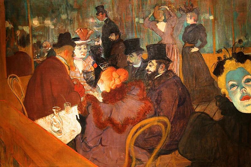 Krzesło numer 14 na obrazie Moulin Rouge