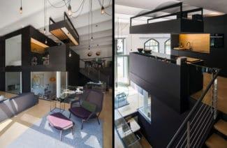 Kuchnia w przestworzach i Living Cube, czyli dom we wnętrzu berlińskiego apartamentu