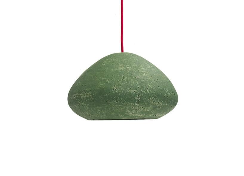bulwiasta zielona wisząca lampa