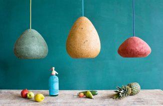 3 wiszące lampy o bulwiastych kształtach