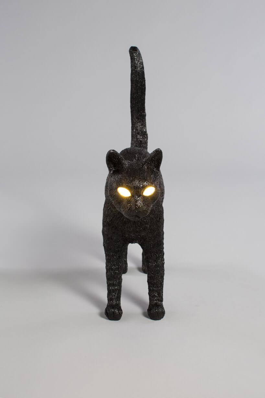 lampa wkształcie czarnego kota