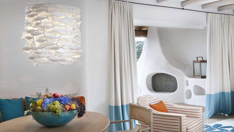 lampa zmałych rybek waranżacji salonu