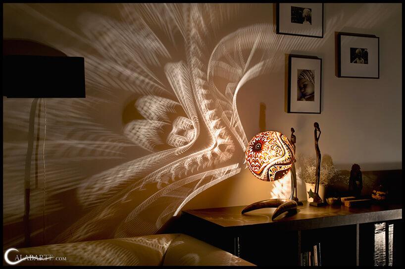 kulista świecąca lampa
