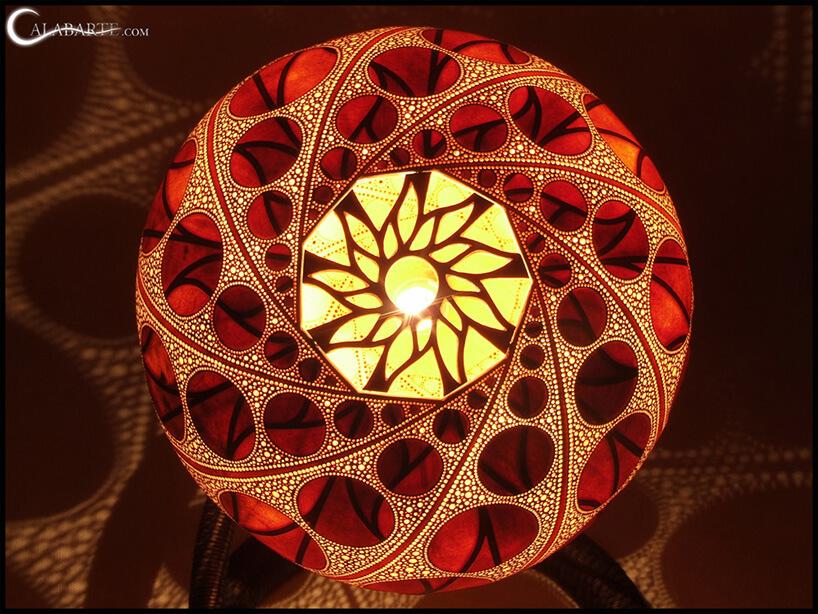 lampa ze wzorem wokręgi