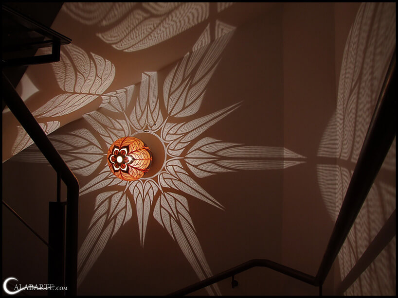 lampa dająca grafikę