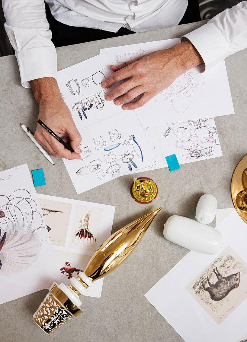Szkice projektowe lamp stołowych od MOOOI