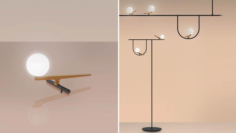 lampa przypominająca ptaka siedzącego na gałęzi