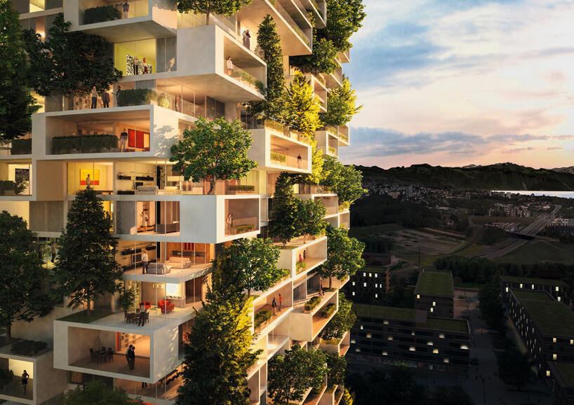 projekt zielonego wieżowca wLozannie