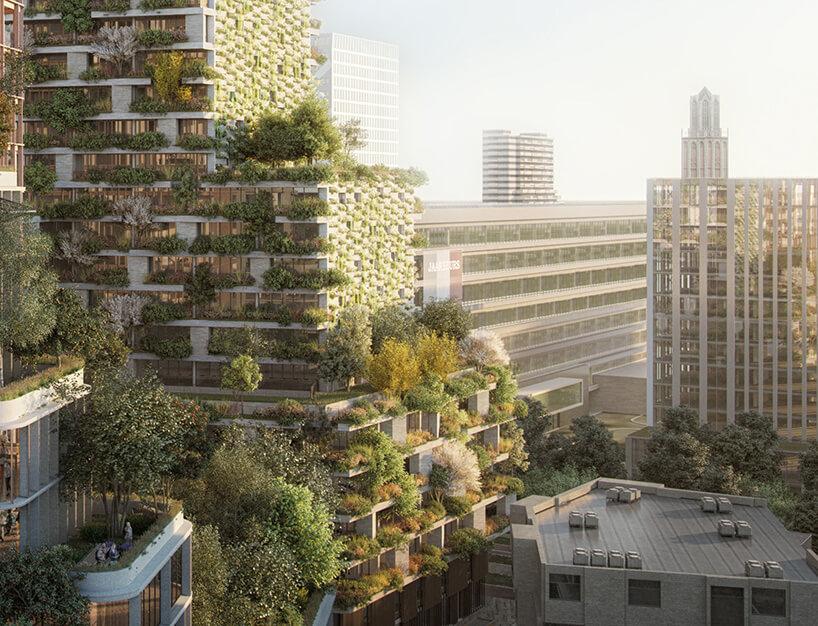 projekt zielonego wieżowca wUtrechcie
