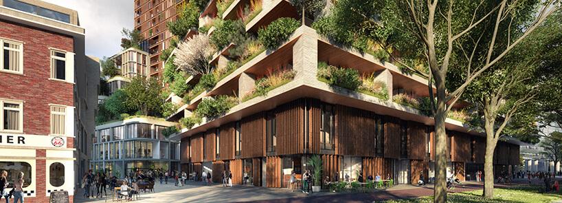 parter projektu zielonego wieżowca wUtrechcie