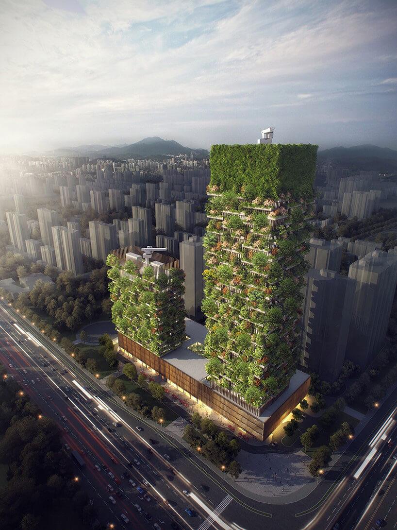 projekt zielonych wieżowców wChinach