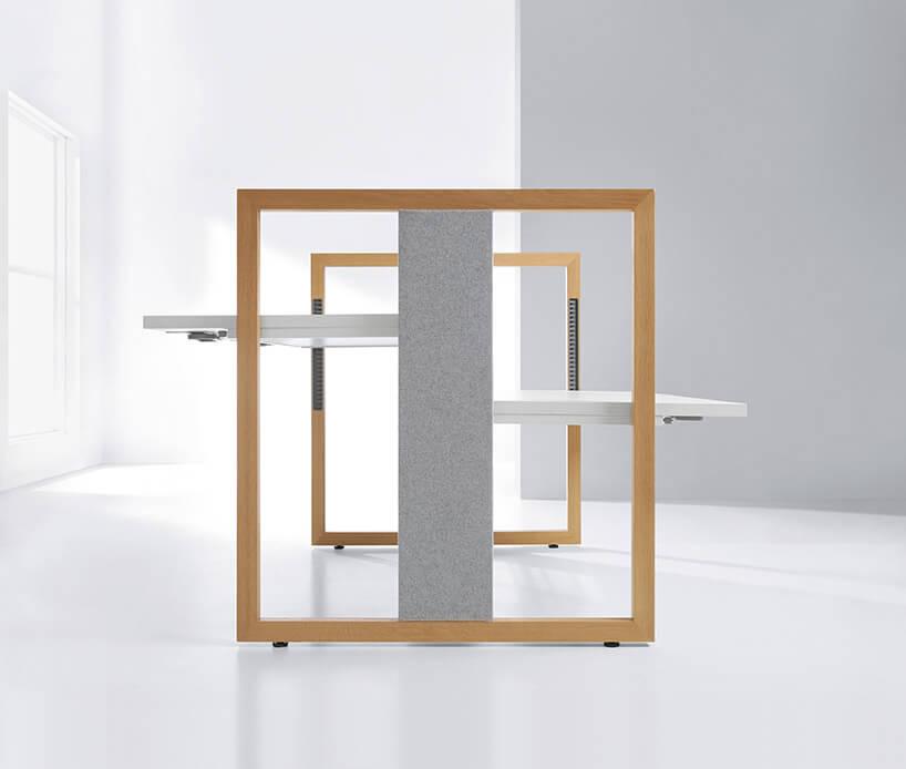minimalistyczne ifuturystyczne dwustronne biurko
