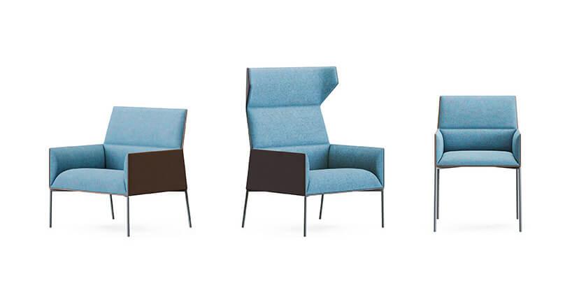 dwu kolorowe fotele wróżnych wersjach