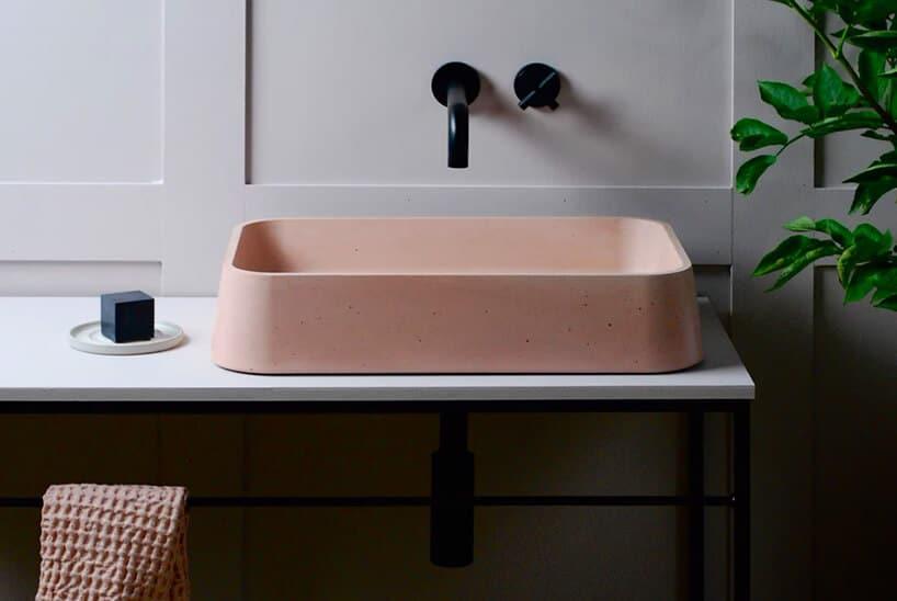 kk0932 betonowe kolorowe umywalki