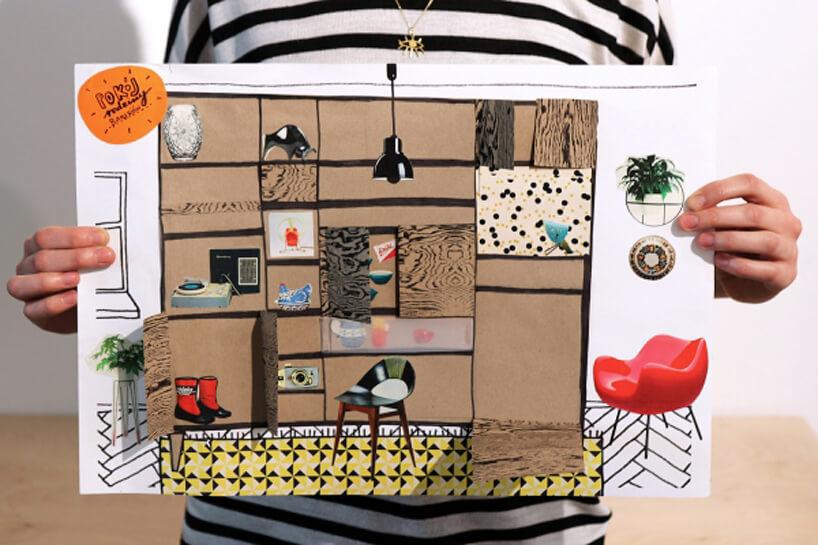 plan pokoju narysowany przez dziecko