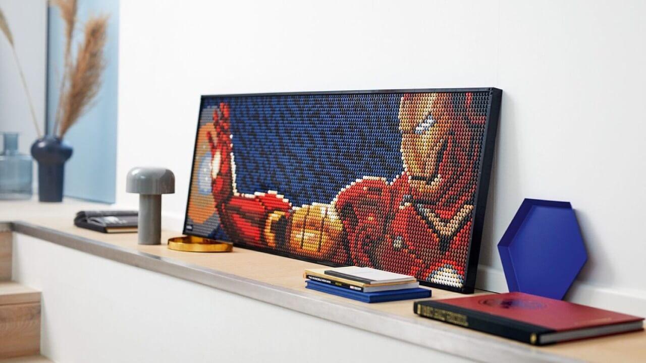 obraz zklocków lego art ironman