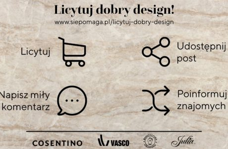 plakat akcji licytuj dobry design