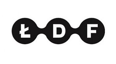 czarno-białe logo ŁDF