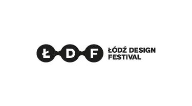 czarno biały logotyp Łódź Design Festival