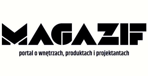 Logotyp MAGAZIF ze sloganem