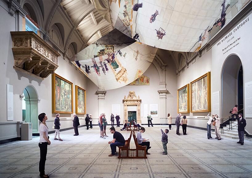 zewnętrzna wystawa na London Design Festival 2018 przestronne wnętrze starego budynku