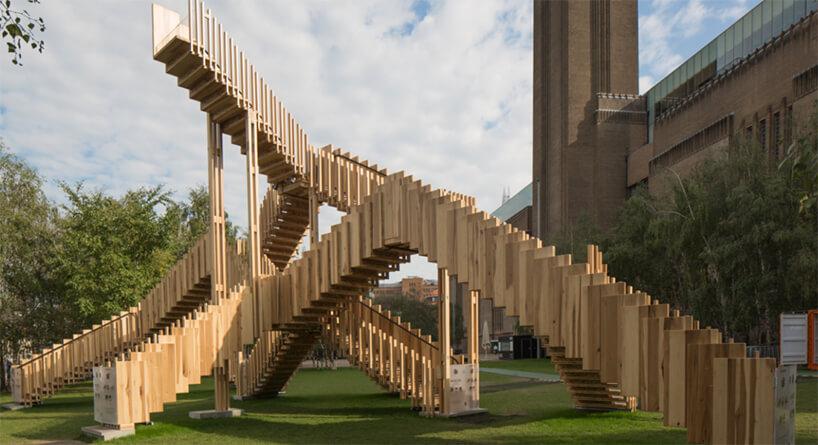 London Design Festival 2019 drewniane kładki