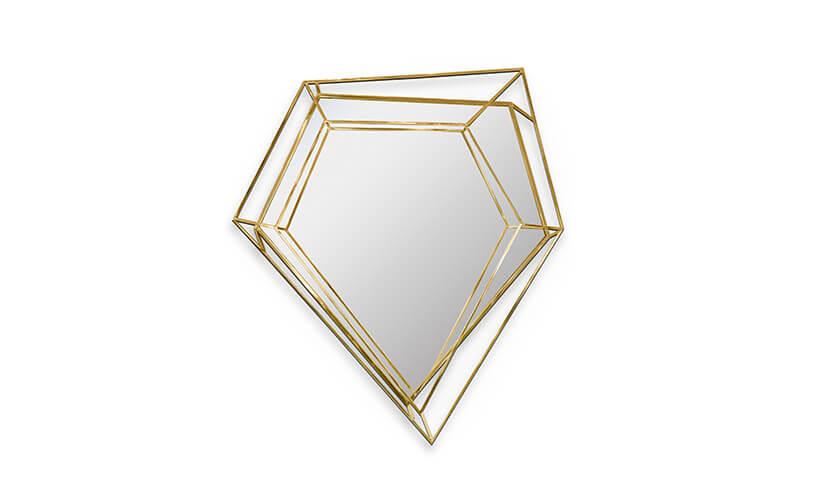 lustro wkształcie oszlifowanego diamentu