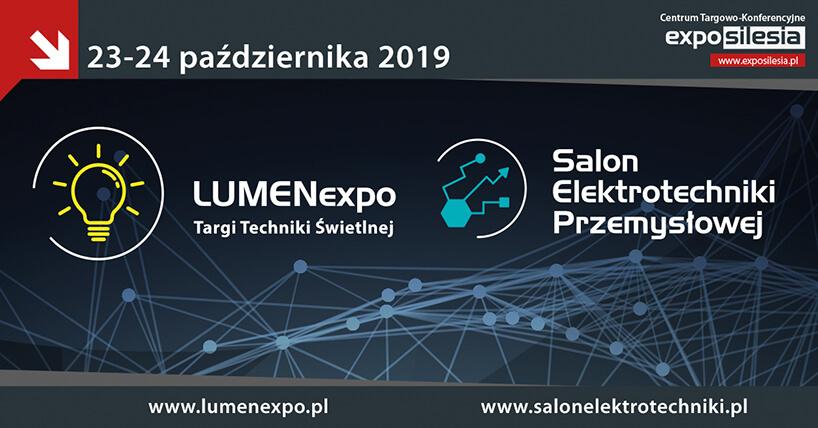 Zaproszenie na LUMENexpo 2019 oraz Salonu Elektrotechniki Przemysłowej 2019