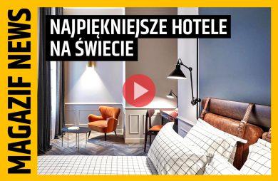 elegancka jasna sypialnia z dużym łóżkiem na tle pomarańczowego fotela