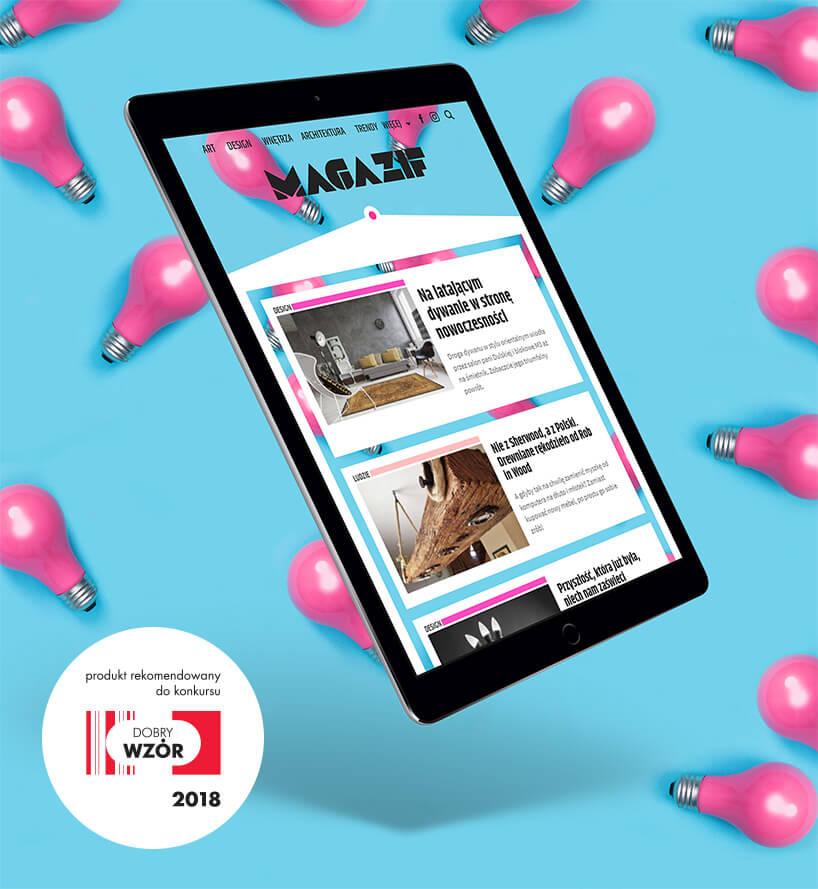 magazif mobile zkolorowymi żarówkami