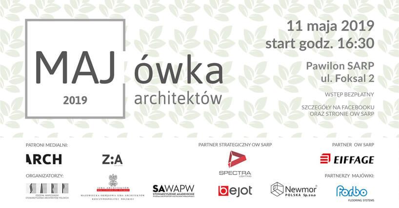 zaproszenie na Majówkę Architektów 2019 SARP Warszawa