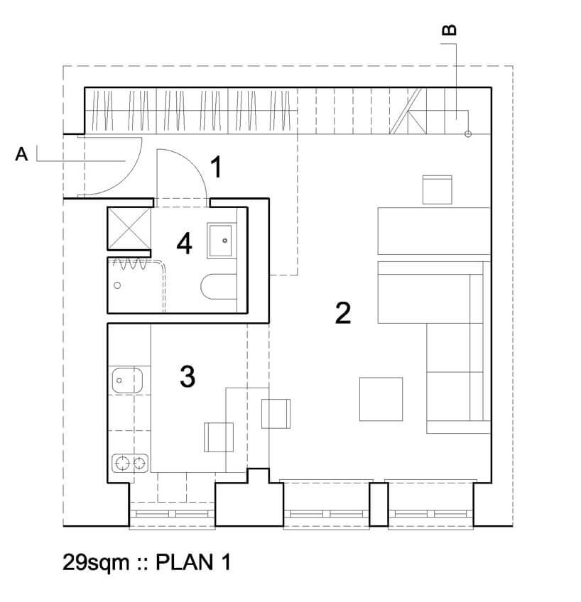 plan mieszkania zsalonem