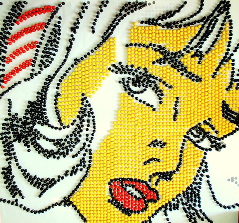 ceramiczna twarz kobiety