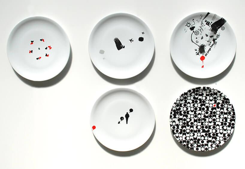 malowana biała ceramika na ścianę