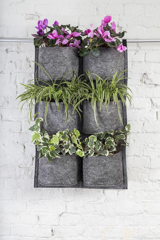 kwiaty wmateriałowej doniczce