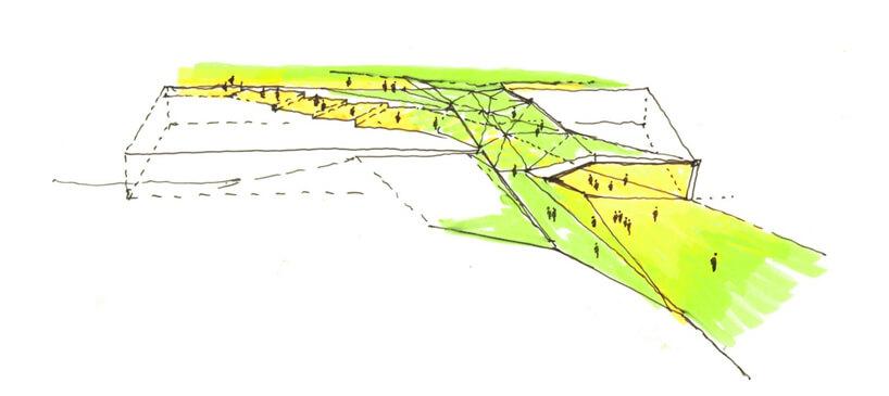 Zielono żółty rysunek zludzikami