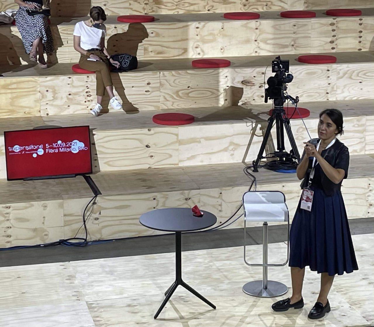 maria porro konferencja prasowa salone del mobile 2021