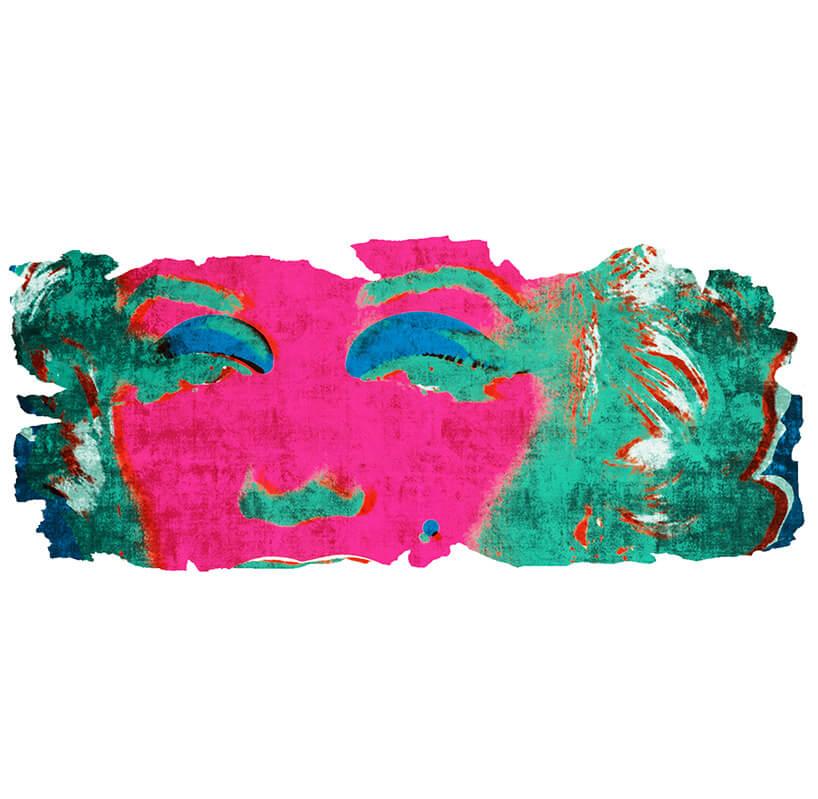 jaskrawy dywan zwizerunkiem Marilyn Monroe