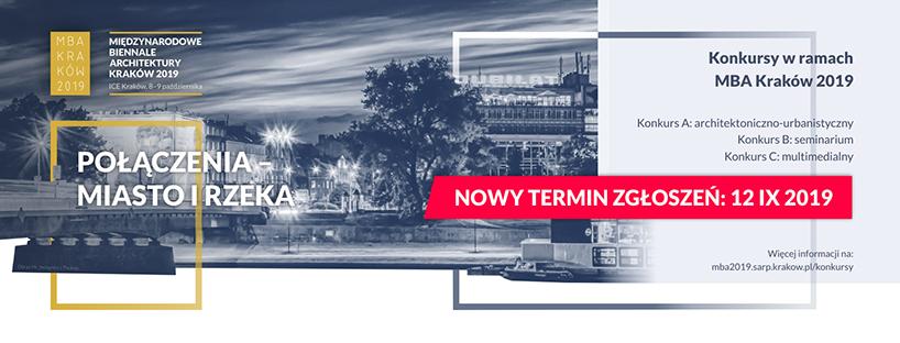 """plakat na MBA 2019 """"Połączenia Miasto iRzeka"""""""