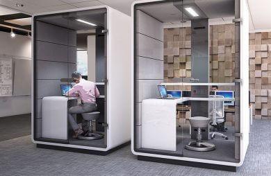 Meble biuro Mikomax Biurowe układanki, które wyciszają