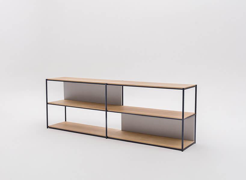 drewniano-metalowa szafka