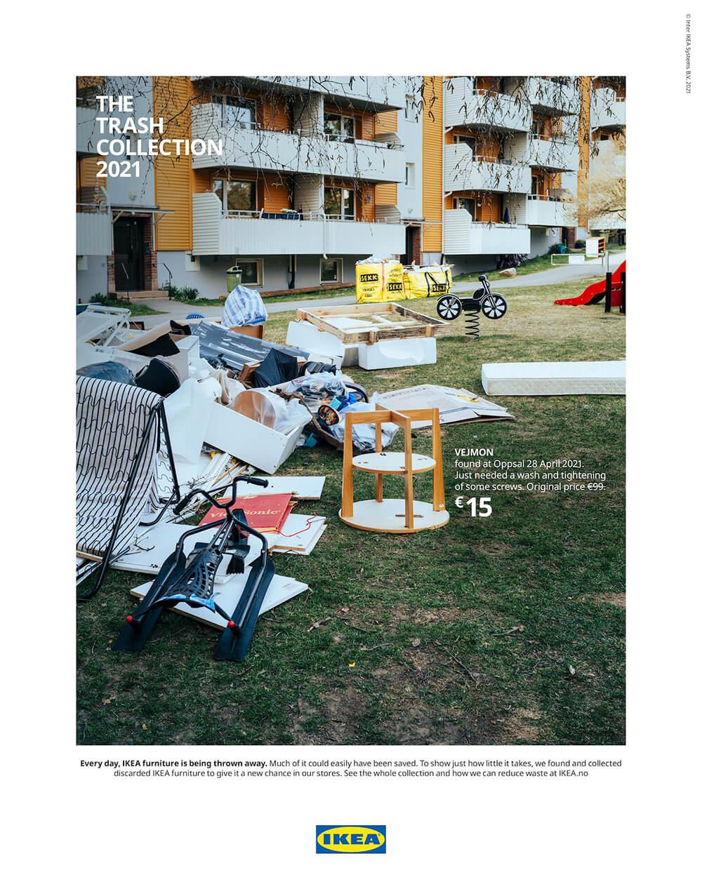 Meble IKEA wnowej kampanii jako śmiec